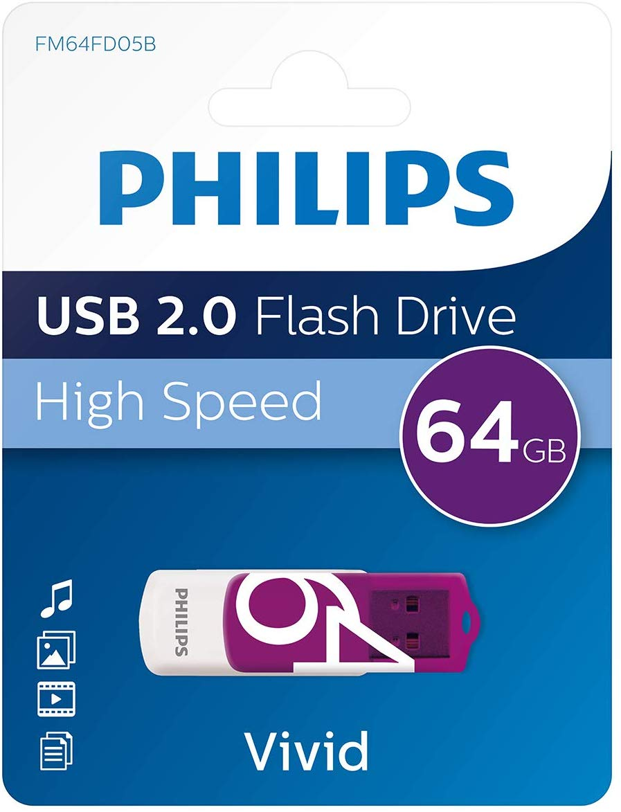 Philips 64GB High Speed Flash Drive - 2.0