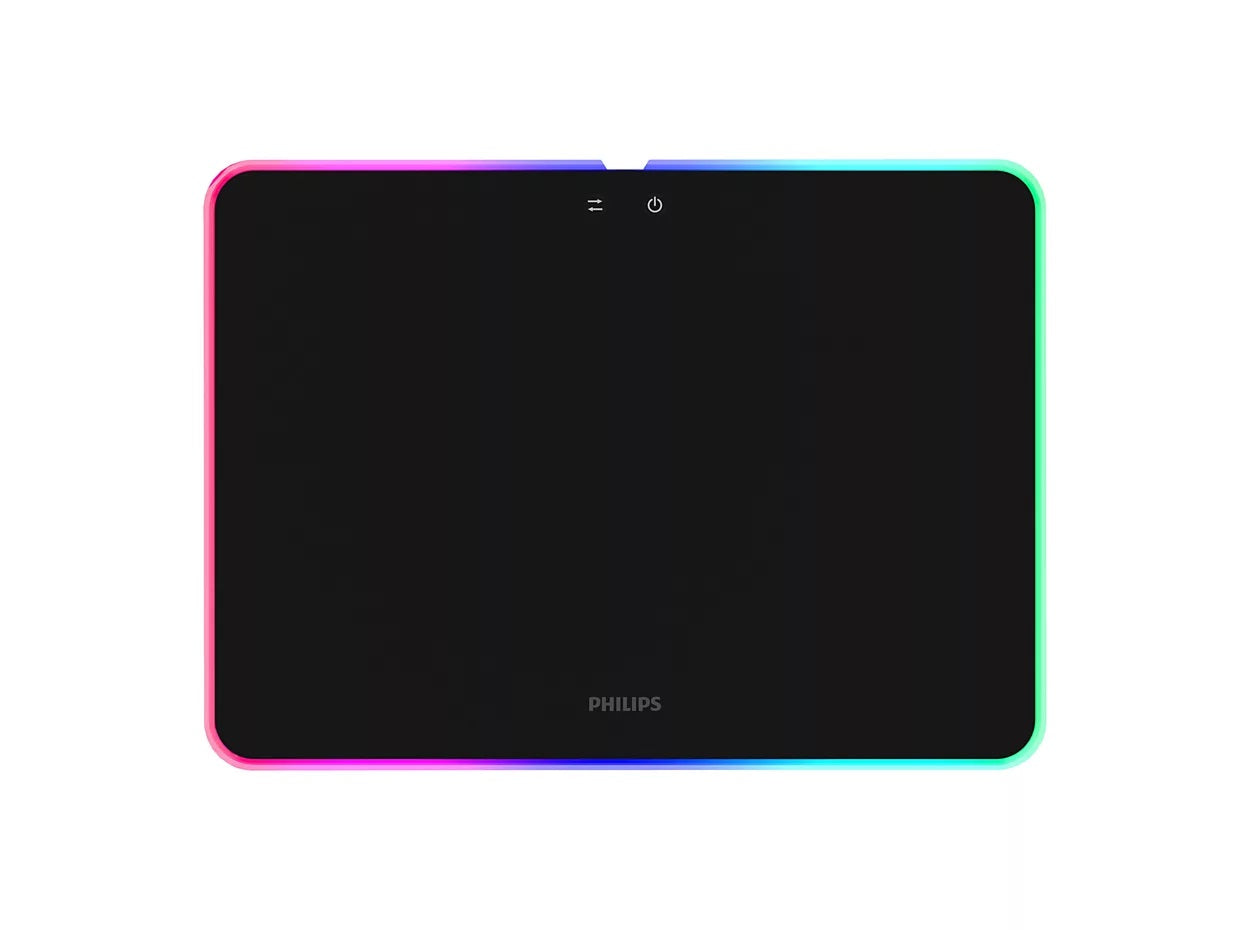 Philips LED RGB Gaming Mouse Pad - Black