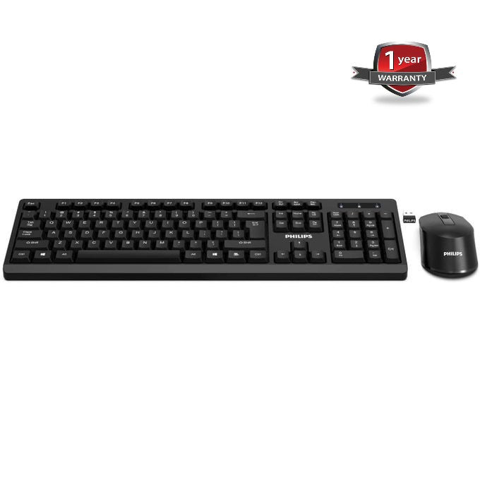Philips SPT6354 Wireless Keyboard And Mouse Combo - Black