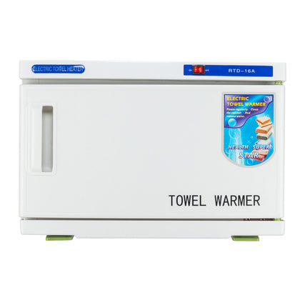 16L Salon Hot UV Sterilizer Cabinet Tabletop Towel Warmer Heater - White