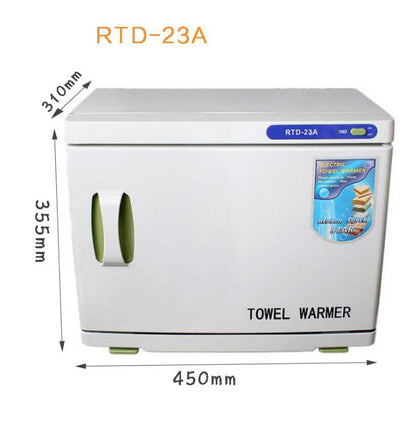 23L Salon 2 in 1 Hot UV Sterilizer Cabinet Towel Warmer & Ultraviolet Sanitizer Heater -200W