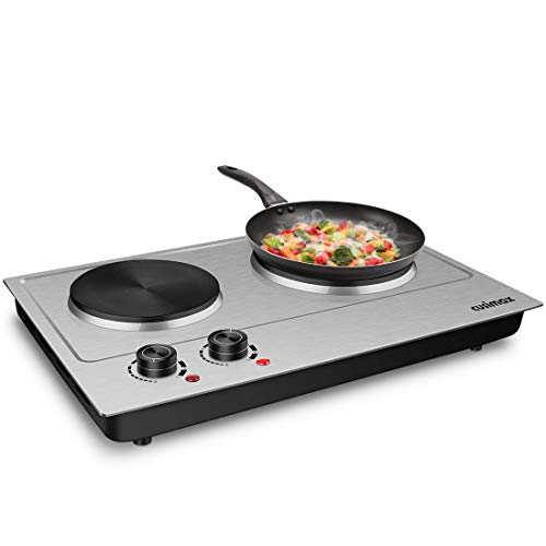 Royal Master 2500W Stainless Steel Double Hot Plate - Silver,Black