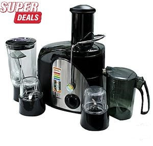 Sayona 4 in 1 Blender,Meat Chopper, Dry Mill and Juice Extractor
