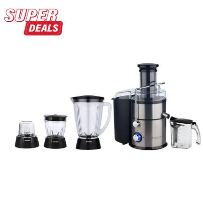 Sayona 800W Motor 4 In 1 Juicer Blenders Mill Mincers - Silver,Black