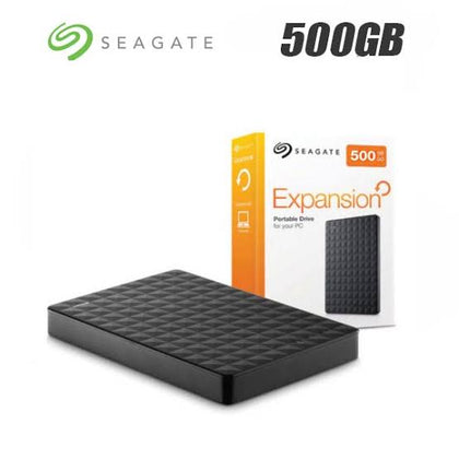 500GB Seagate Expansion USB 3.0 Portable 2.5 Inch External Hard Drive - Black