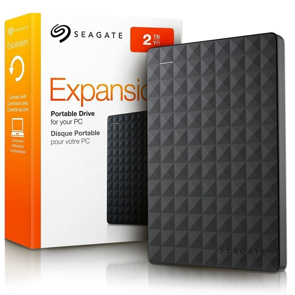 Seagate 2TB Expansion USB 3.0 Portable 2.5 Inch External Hard Drive for PC and MAC