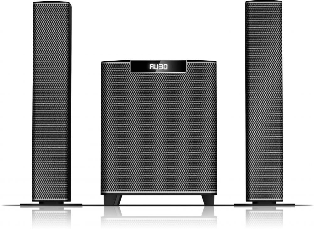 Sayona SHT-1253BT PMPO 16000W Sound Bar Multimedia Speaker With USB/SD/Digital FM - Five Star - Grey,Black.