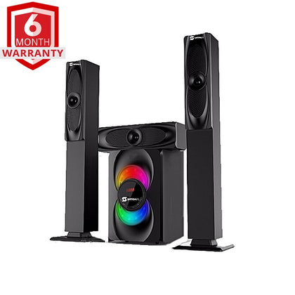 Sayona 1265BT 3.1CH Subwoofer - Bluetooth/USB/SD/FM Speaker - Black