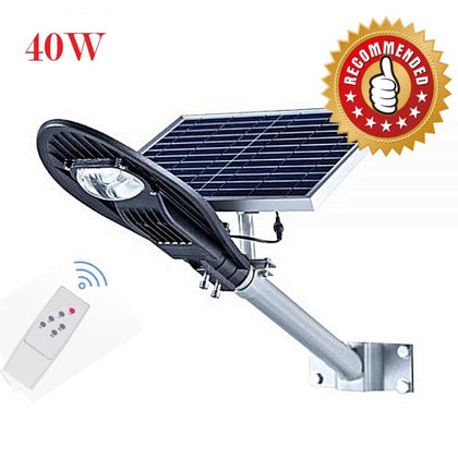 40W Solar Street Light Auto switch on & off at night and day - Silver
