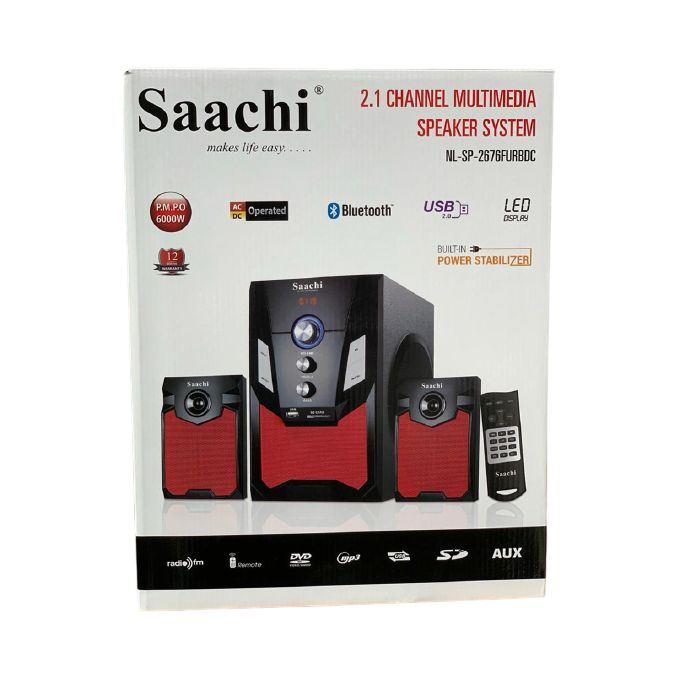 Saachi NL-SP-2676FURBDC 2.1CH Hifi, Bluetooth Multimedia Speaker - Black