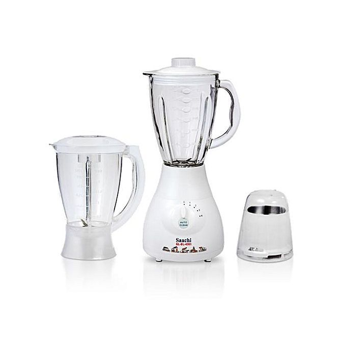 Saachi NL-BL-4361- 3 in 1 Electric Blender - White