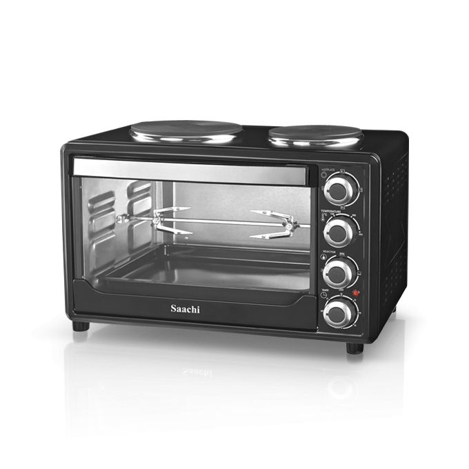 Saachi NL-OH-1931G Rotisserie Electric Oven With 2 Burner Plates - 30Litres