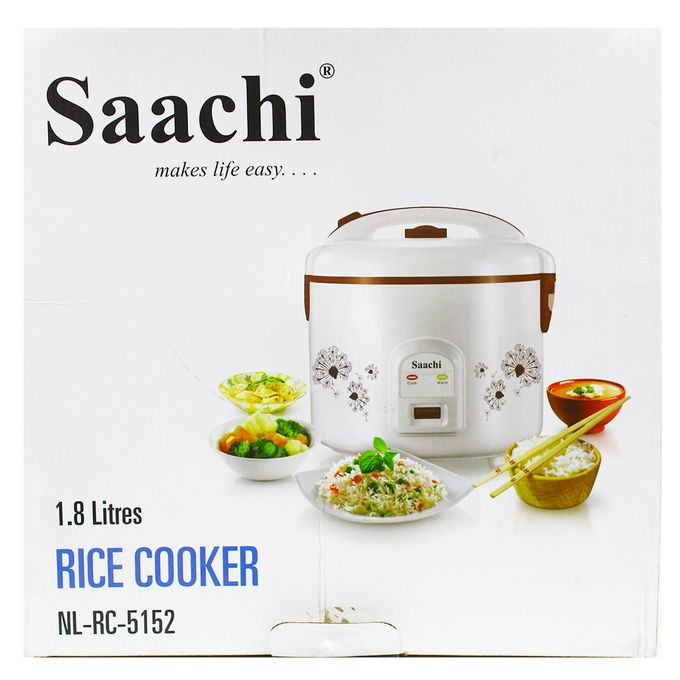 Saachi Premium Rice Cooker With Steamer Basket - 1.8Ltrs
