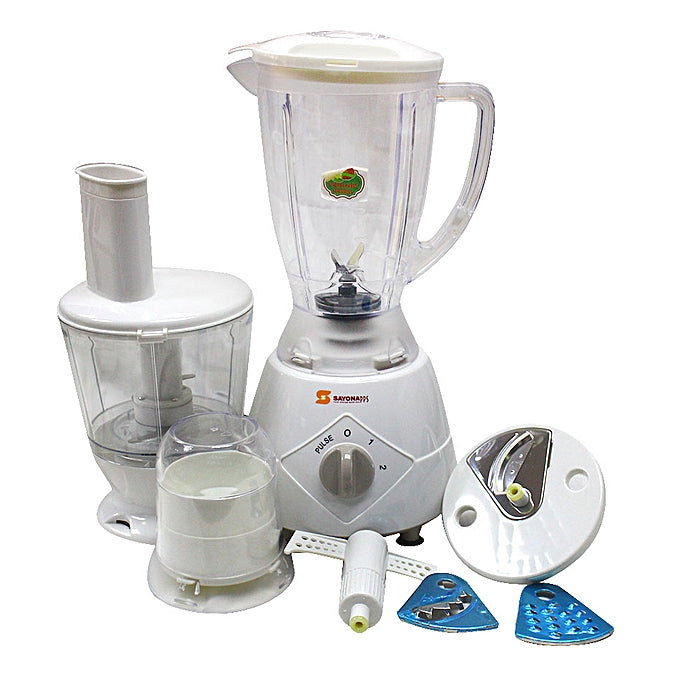 Sayona SB-4187 Multi Function 7 in 1 Blender/Food Processor - White