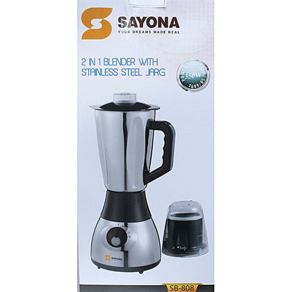 Sayona SB-808 Powerful Blender With Mill & Grinder - 2.0Ltrs