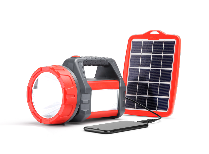 D.Light T200 LED Rechargeable Solar Lantern - Red