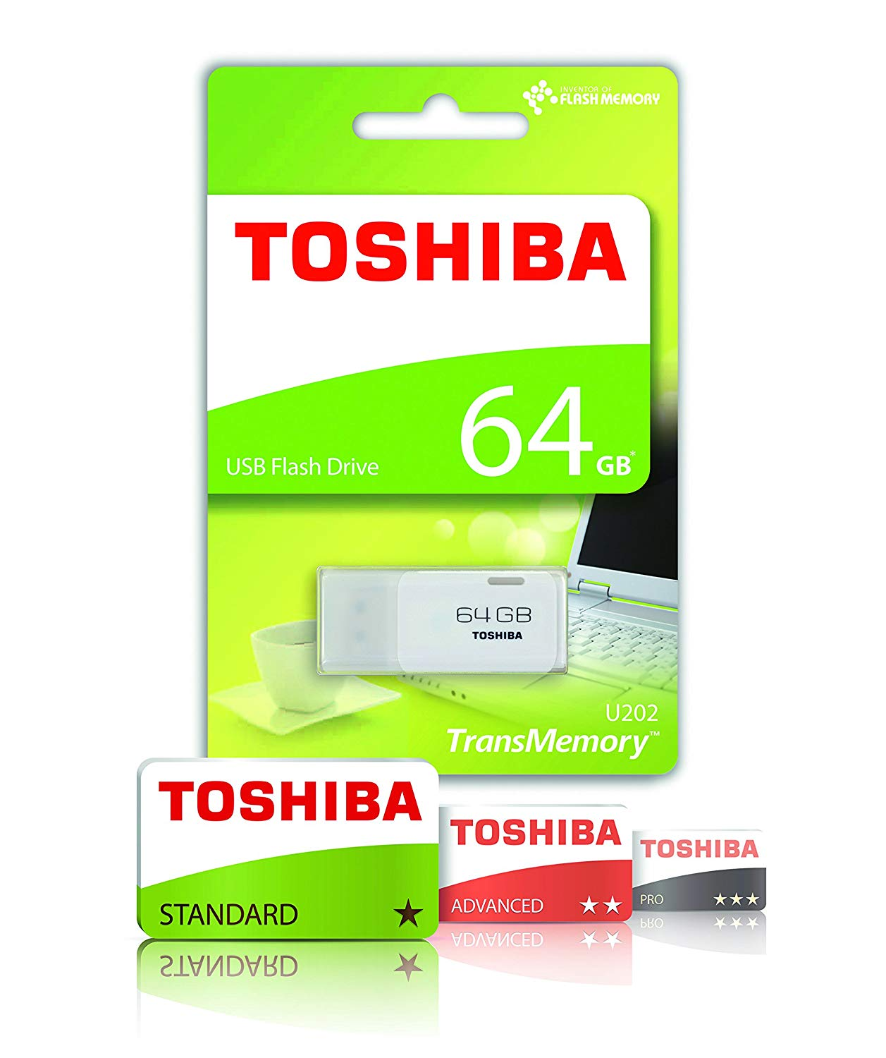Toshiba 64GB TransMemory USB 2.0 Flash Drive - White