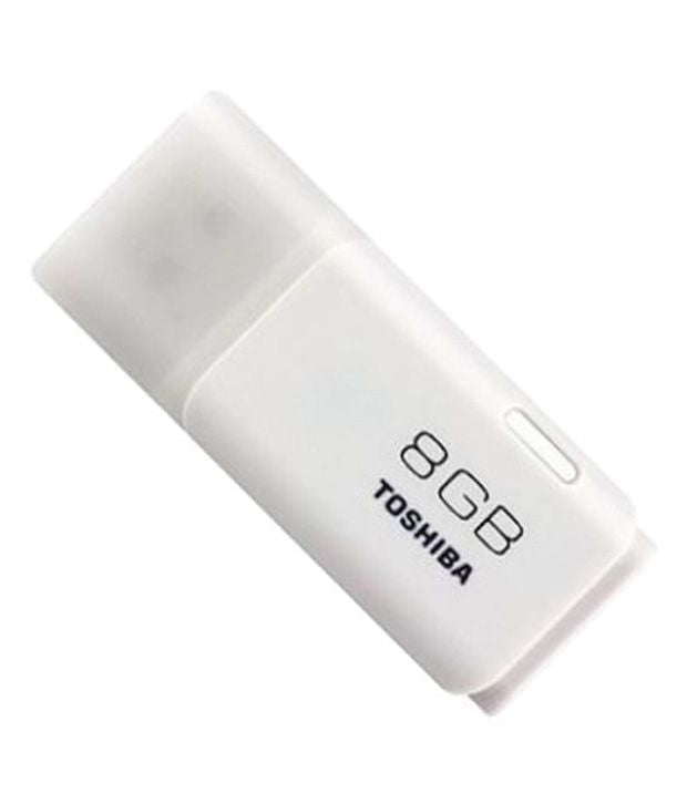Toshiba 8GB TransMemory USB 2.0 Flash Drive - White