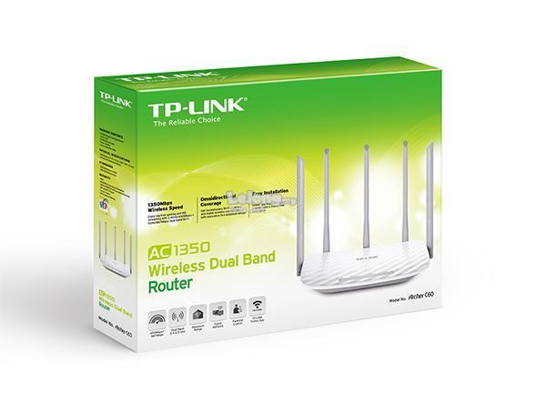 TP-Link Archer C60 AC1350 Wireless Dual Band Router - White