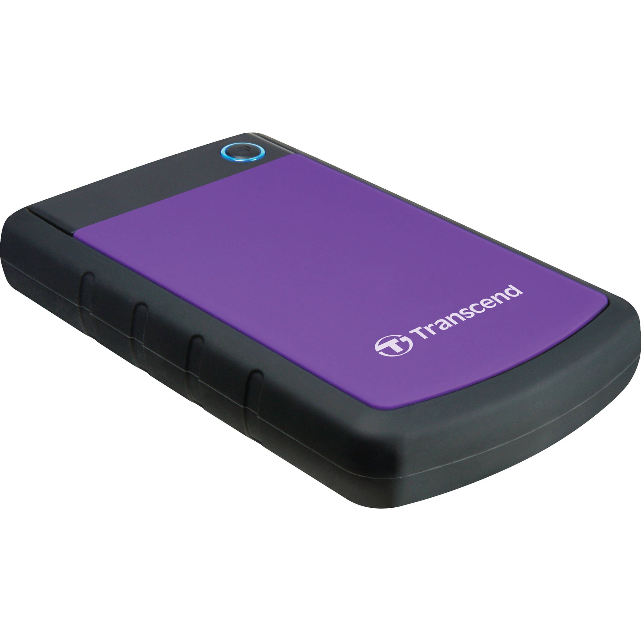 Transcend 2TB External Hard Drive StoreJet M3 Military Drop Tested USB 3.0 - Black,Purple