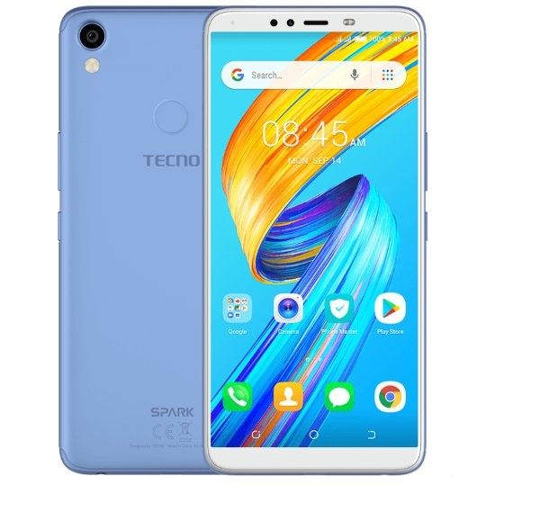 Tecno Spark 2 (KA70) 2GB RAM+16GB 13MP Camera, 3500mAh Battery Smartphone - Coral Blue