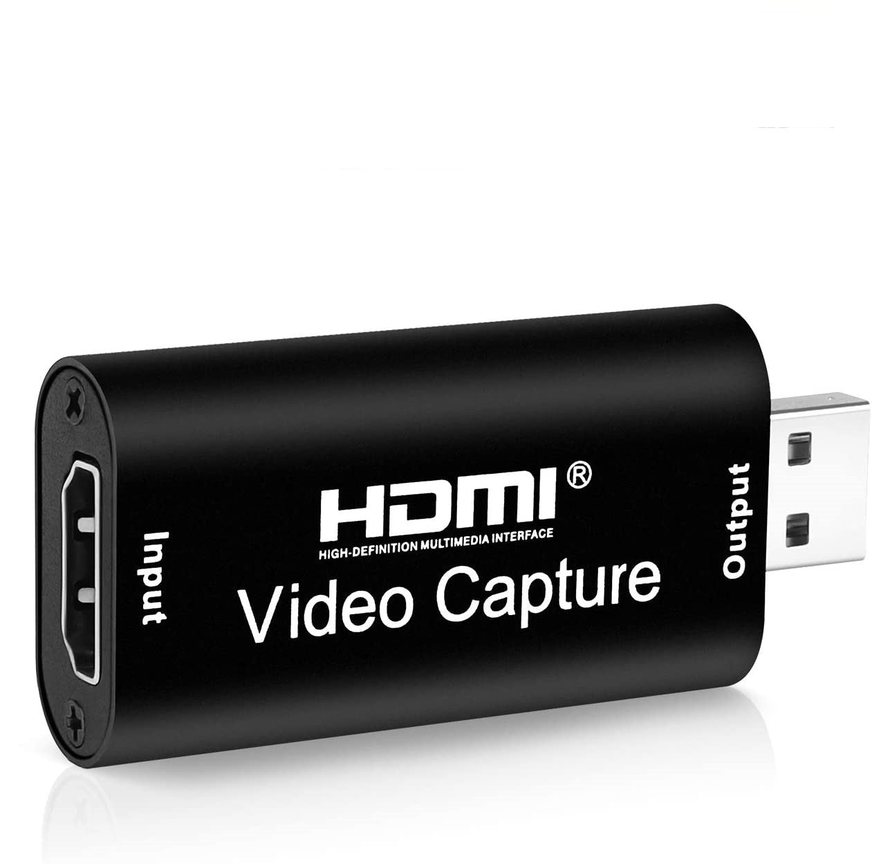 Audio Video Capture Card HDMI to USB - Black
