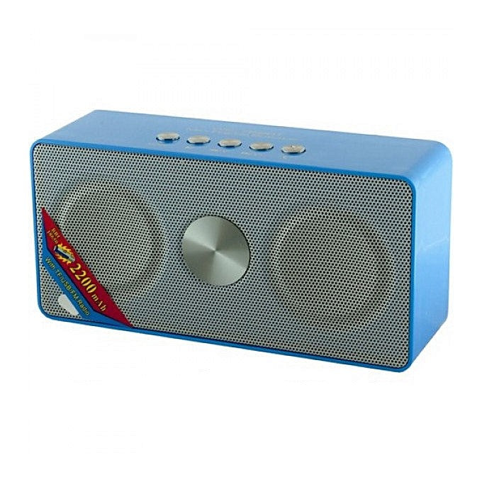 Wster WS768BT Wireless Bluetooth Portable Speaker With FM,USB & SD Slots - Blue