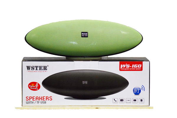 Wster WS-160 Bluetooth Bass Speaker -Green