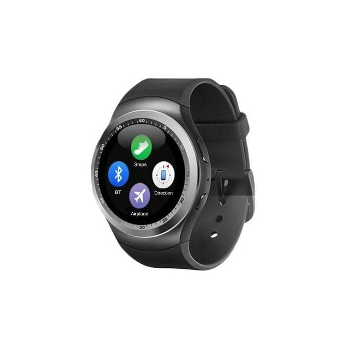 Y1 Bluetooth Android Smart Wrist Watch - Black,Silver