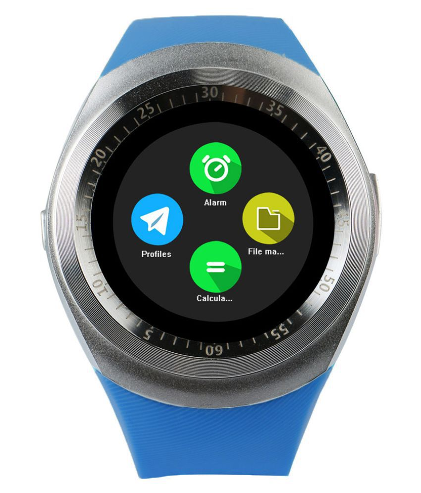 Y1 Bluetooth Android Smart Wrist Watch - Blue,Silver