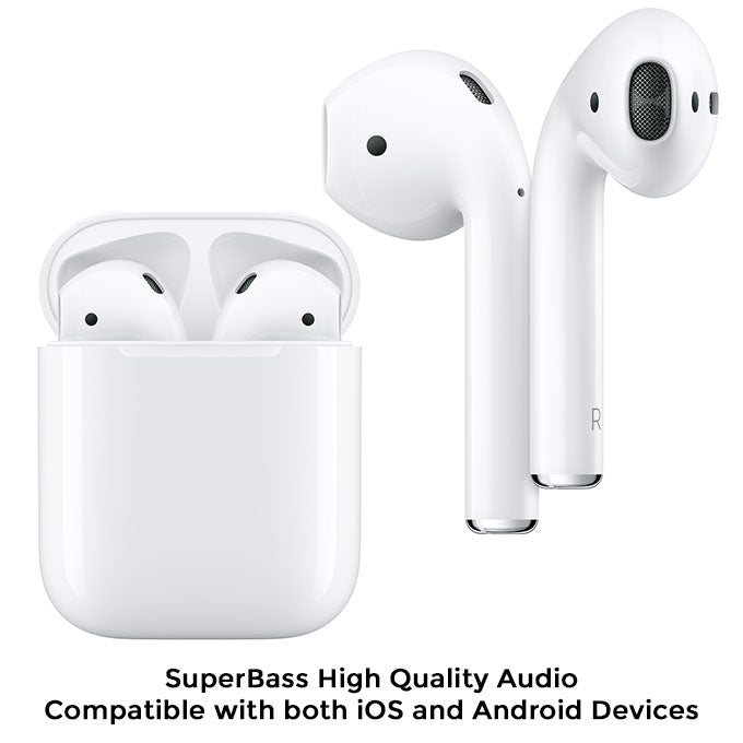 i11 TWS Wireless 5.0 Sensor Earbuds With Mic For iOS and Android Smartphones - White