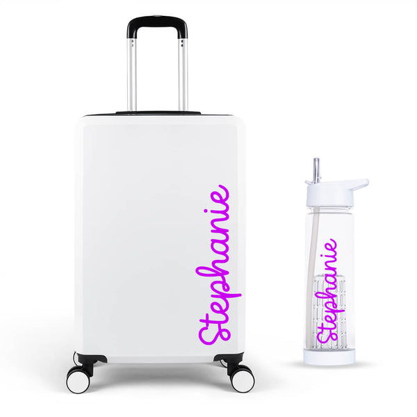 Handwritten Edition Large Suitcase - Personalised Island