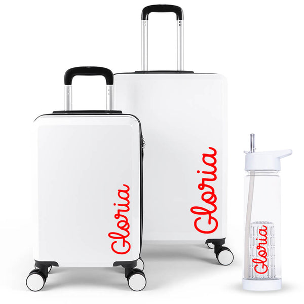 Handwritten Edition Luggage Suitcase Set - Personalised Island