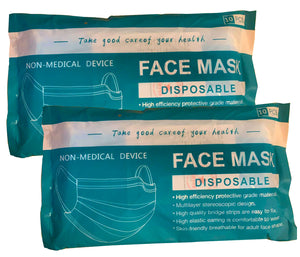Disposable face masks: 2 x Pack of 10
