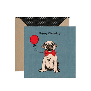 Pug Puppy and Balloon