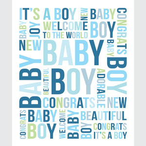 New Baby Text Blue