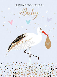 Leaving Baby, Bird & Bag [XL Card]