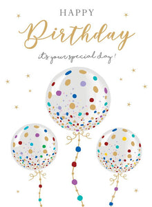 Birthday, 3 Balloons [XL Card]