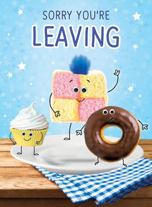 Leaving, Cakes [XL Card]