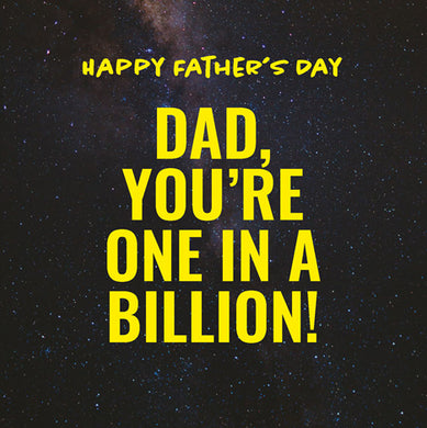 Fathers Day: One in a billion