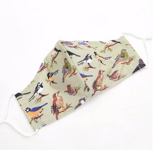 Face Cover - Green Wild Birds