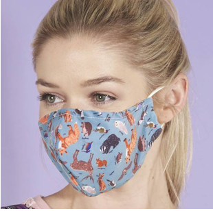 Face Cover - Woodland Animals