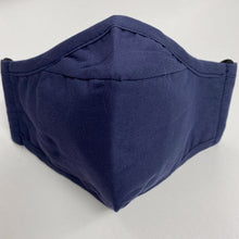 Load image into Gallery viewer, Cotton Face Cover - Navy Blue