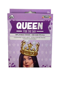 Queen for a Day Inflatable Crown