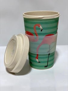Bamboo Cup Flamingoes