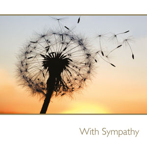 With Sympathy / dandelions
