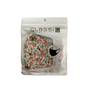 Cotton Face Mask:Cream Floral