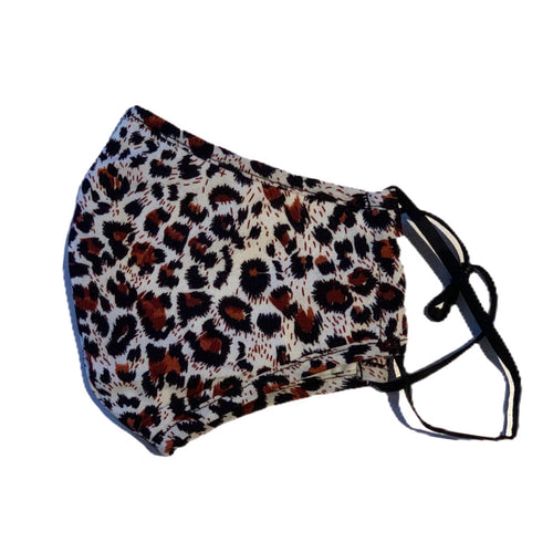 Cotton Face Mask:Leopard Print