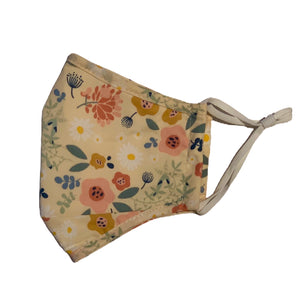 Cotton Face Mask:Butterscotch Floral