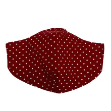 Load image into Gallery viewer, Cotton Face Mask : Red Polka Dot